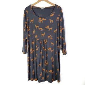 Boden Deer Print Must Have Tunic Top Dress SZ 18